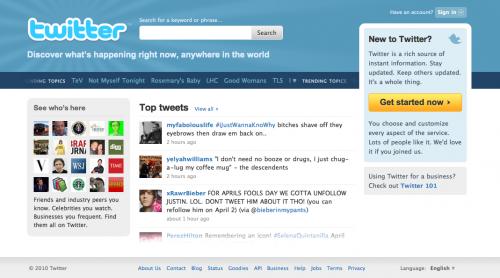 Twitter's New Homepage Design