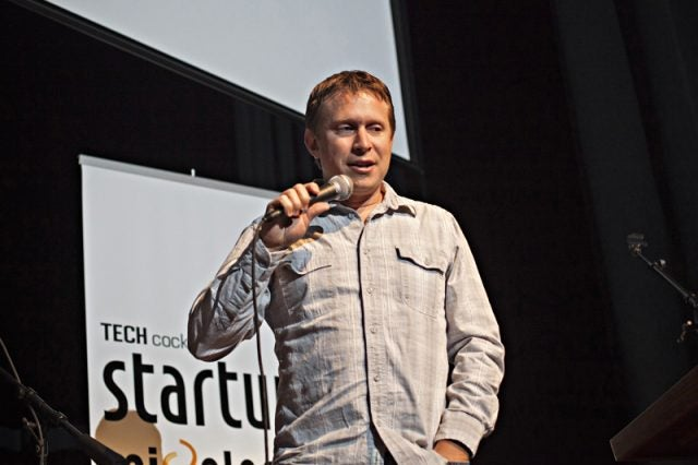 Eric Lunt speaks at Tech Cocktail Startup Mixology Conference