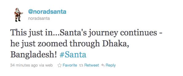 NORAD Santa on Twitter