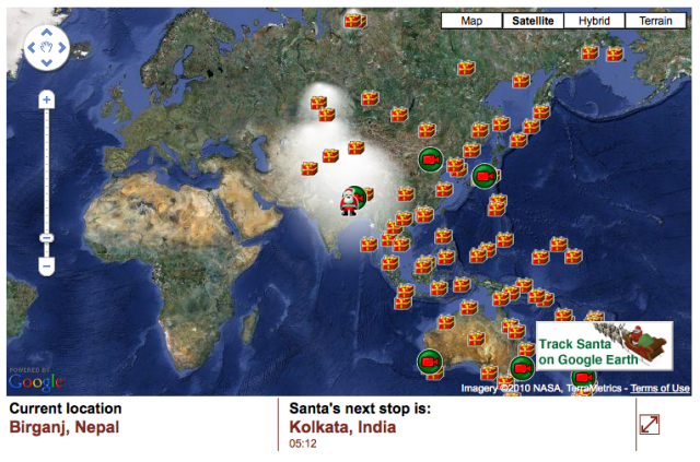 track santa on google maps - Where Can I Find Santa Claus