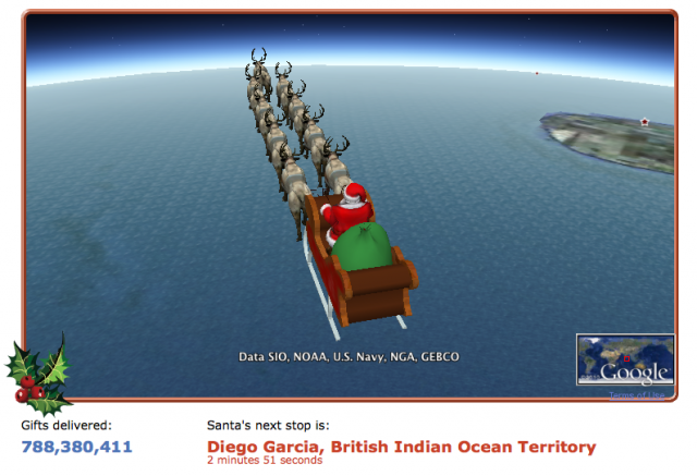 track santa on google earth - Where Can I Find Santa Claus