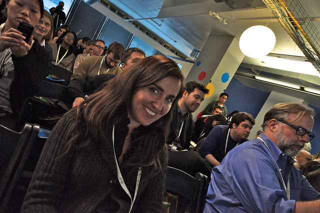 Paulina Ibarra & Chris Abraham at Google For Nonprofit - photo by Geoff Livingston