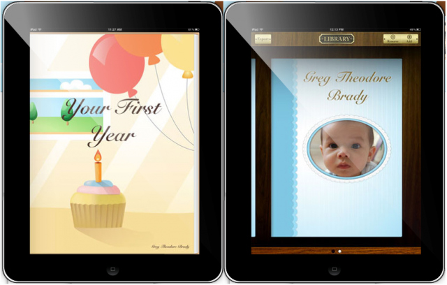 Screenshot of Sweet Baby iPad Baby Album