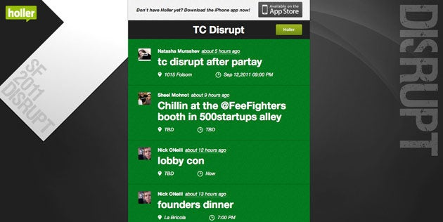 Holler Group TCDisrupt 2011 Screen-shot