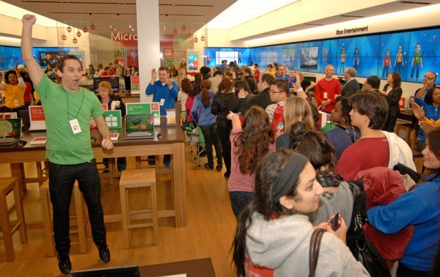 Pure excitement as the Microsoft Store in Tysons Corner opens