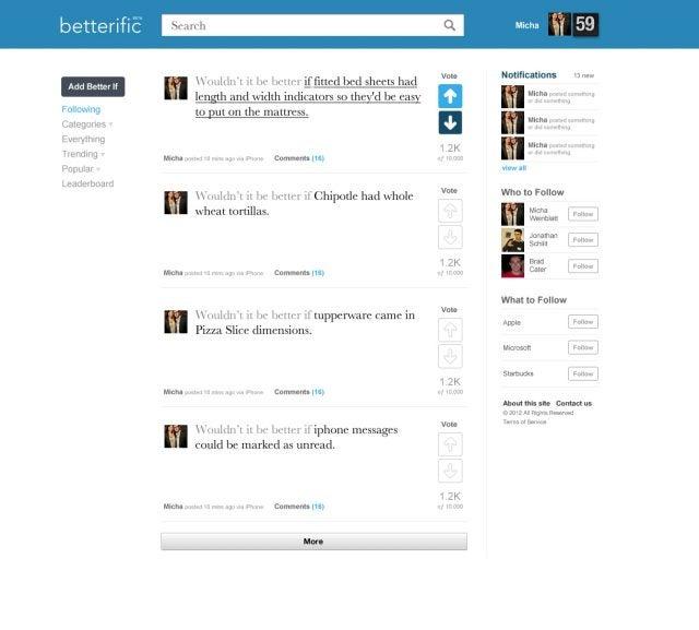 betterific homepage