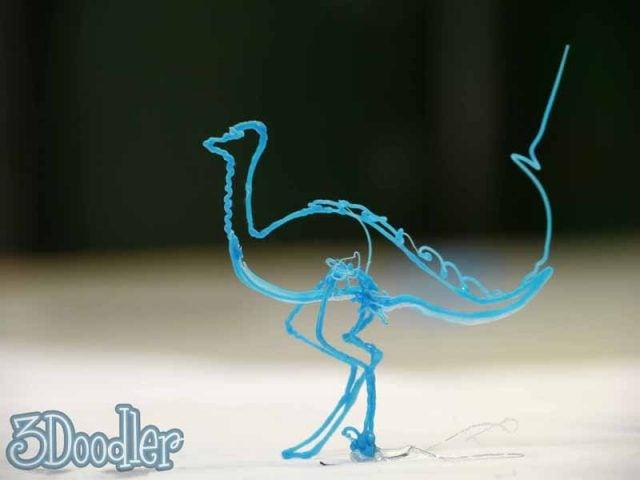 3Doodler ostrich