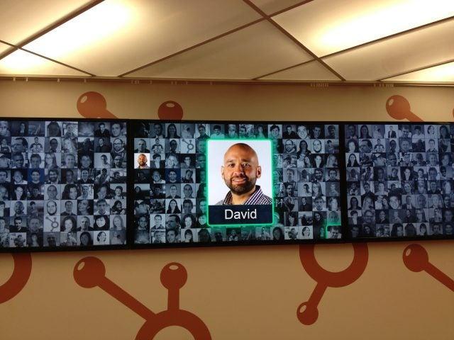 HubSpot Face Wall