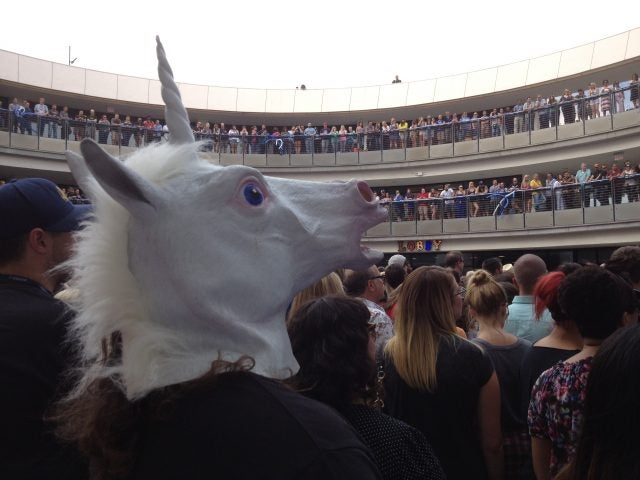 Unicorn at Zappos HQ Ribbon Cutting Event