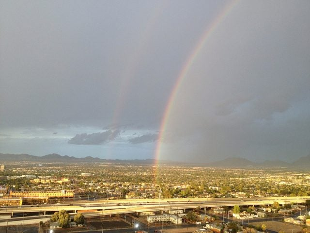 double rainbow downtown Las Vegas