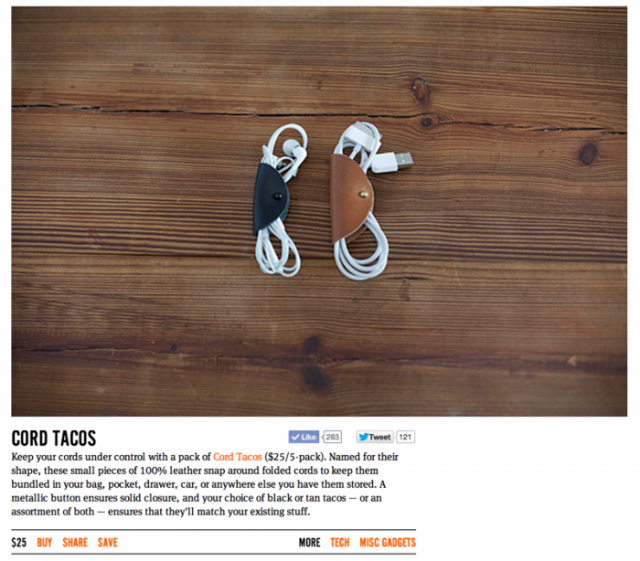 cord tacos on uncrate