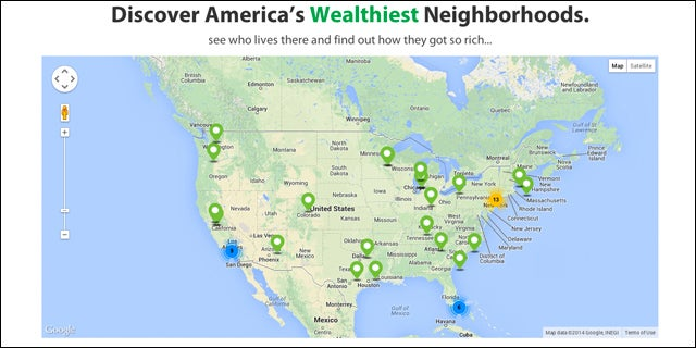Search the World's Wealthiest Neighborhoods With Mansion Map