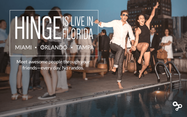 """Hinge: """"Tinder Without the Creeps"""" Launches in Florida"""