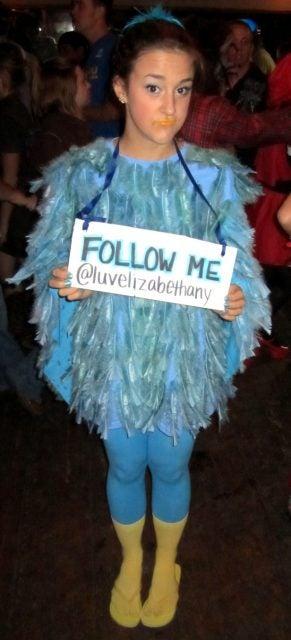 twitter bird costume