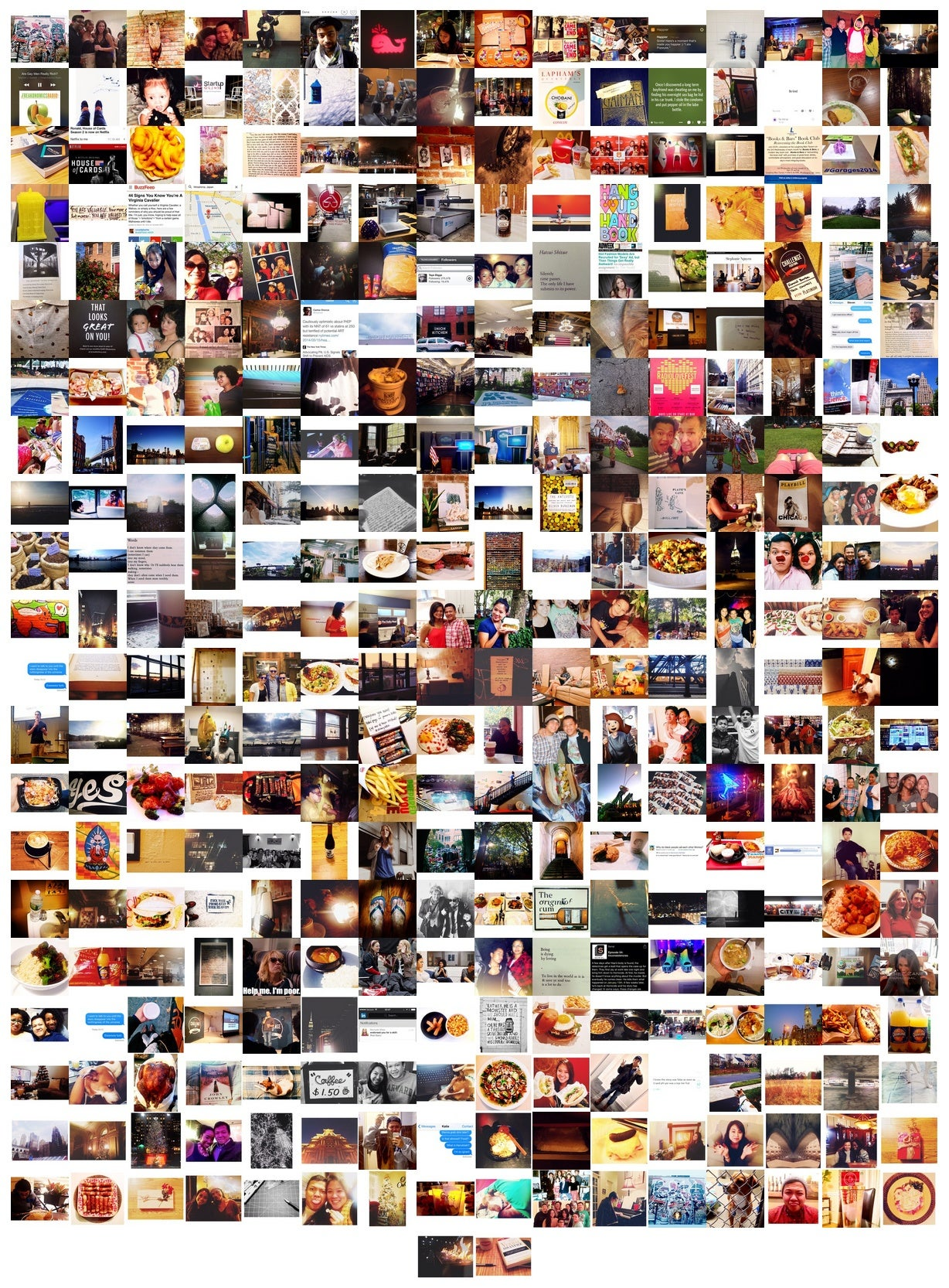 My Year Printed Instagram Poster 2014