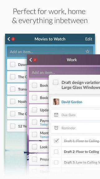 goal setting apps Wunderlist