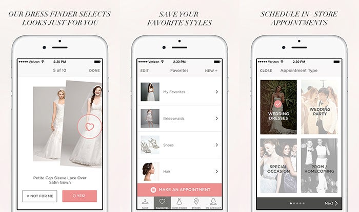 David\'s Bridal Launches Wedding Dress Finder App