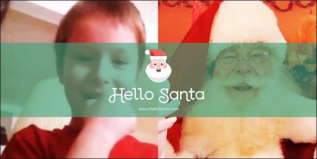 Video Chat with Santa Using the 'Hello Santa' App