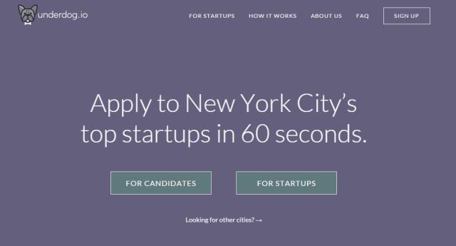Underdog.io Startup Jobs