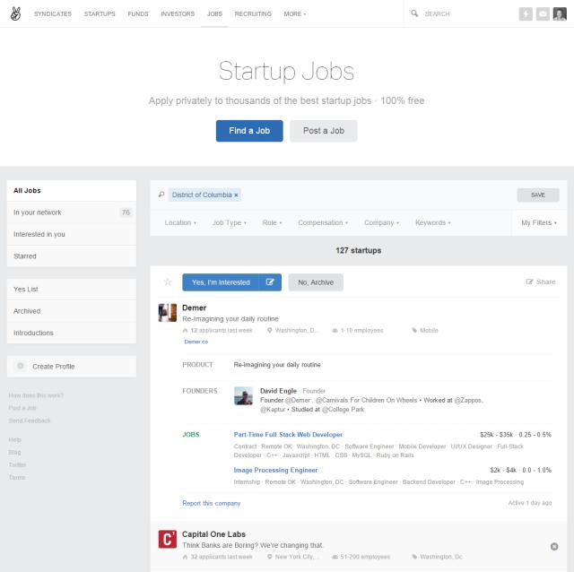 Angel List Startup Jobs