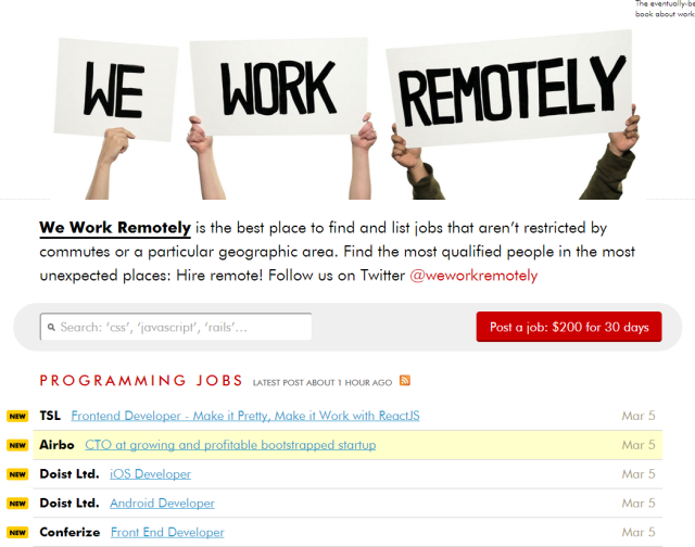 We Work Remotely - Startup Jobs