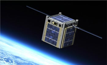 CubeSat rendering  Image credit: NASA's CubeSat Launch Initiative