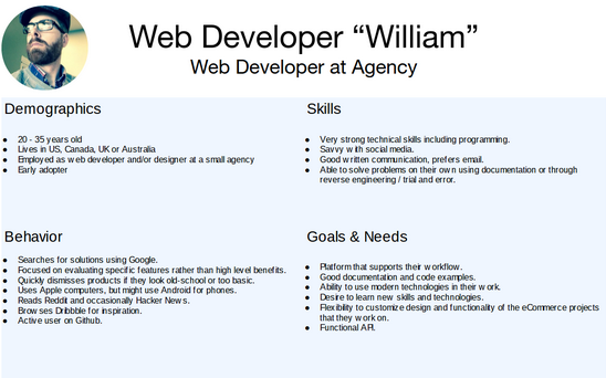 Web Developer William Persona