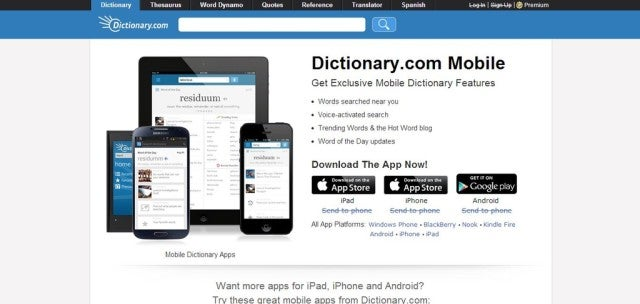 Dictionary App Screenshot