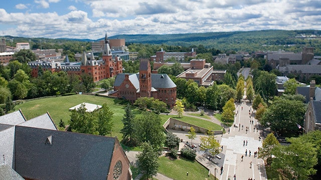 Cornell's beautiful campus. Image credit: Cornell University