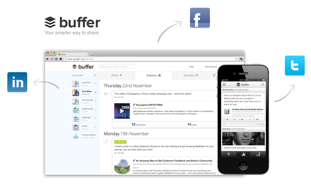 Buffer helps streamline social media marketing by offering a convenient scheduling platform.