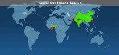 Where e-waste gets shipped.