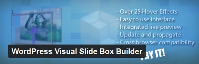 Wordpress Visual Slide Box Builder