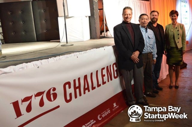 Florida Funders co-founder Dave Chitester was among the judges of a Tampa Bay Startup Week marquee event, the 1776 Challenge Cup.