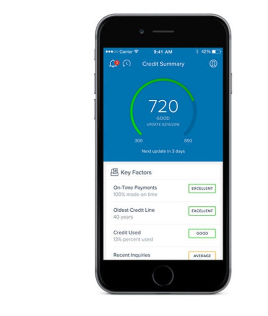 Capital One's CreditWise app offers free credit monitoring.