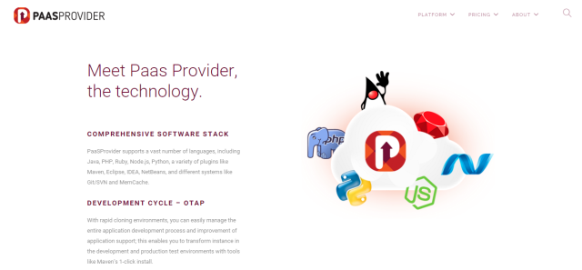 PaaSProvider Reliable and High performance PaaS