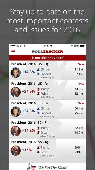 source PollTracker screenshot 2016 election apps