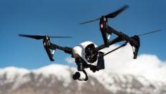 drones flying