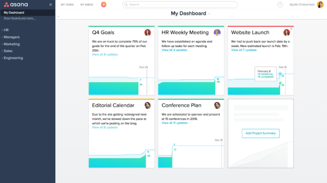 Asana My Dashboard