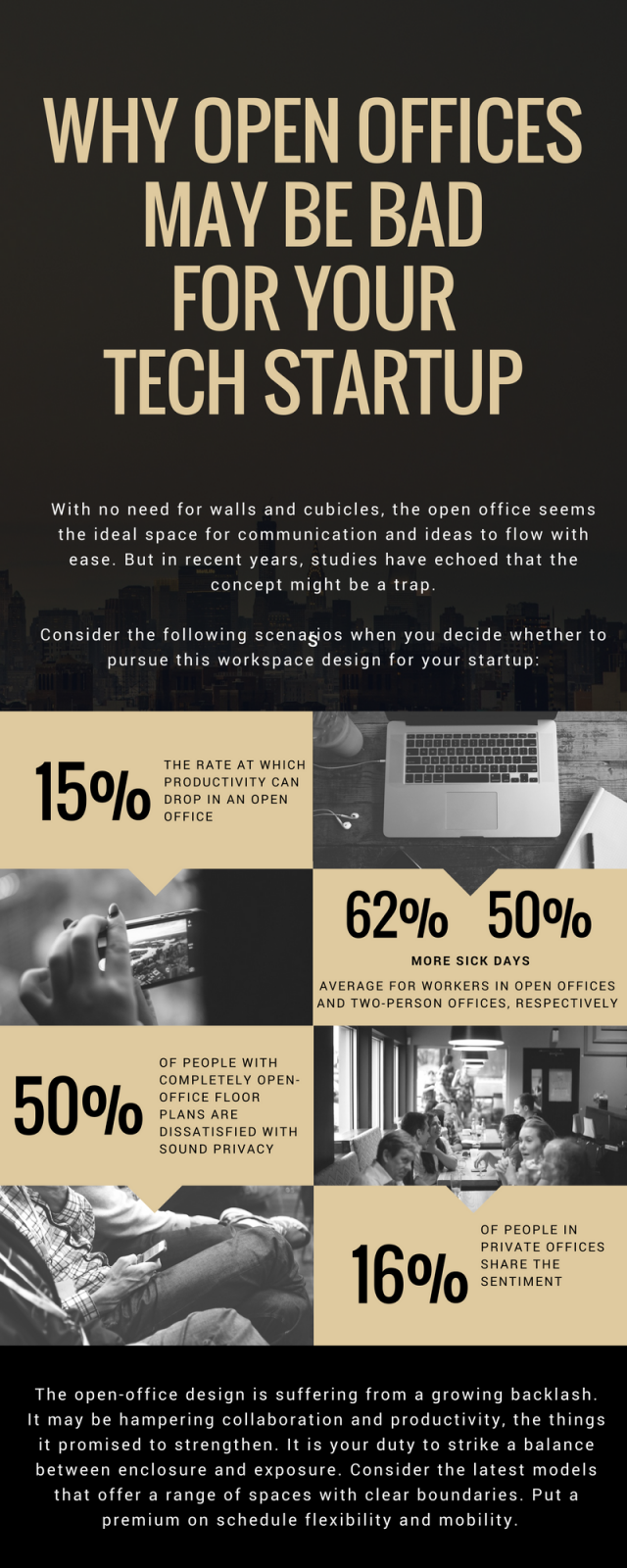 Why Open Offices May Be Bad For Your Startup - Infographic