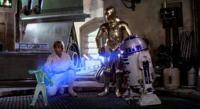 r2d2 hologram tupac