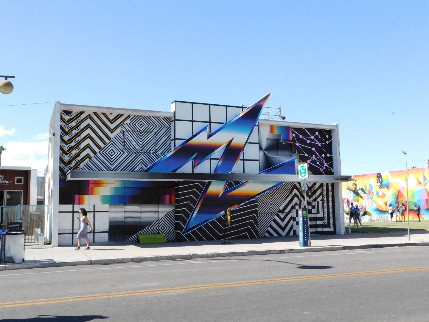 Felipe Pantone mural Life is Beautiful Las Vegas
