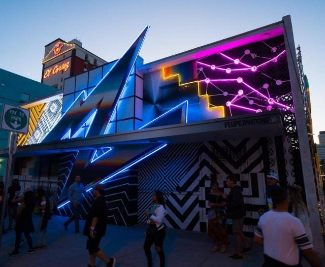 Pantone mural solar lights las vegas