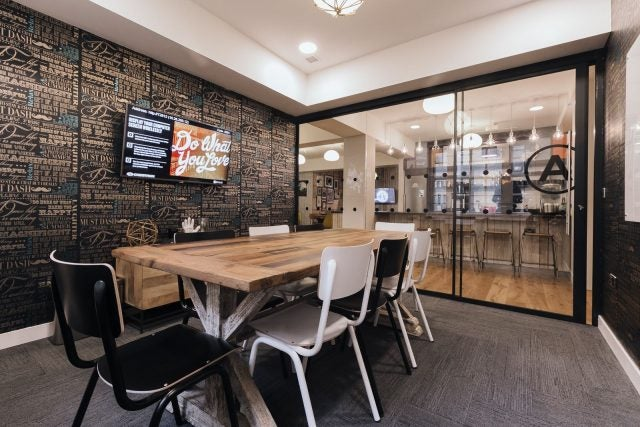 Work home office space Diy It Definitely Is True That You Will Be Dealing With Lot More Noise And Chatter Than You Will Be Used To In Home Office But What Have Also Noticed Techco Why Made The Decision To Go From Home Office To Coworking Space