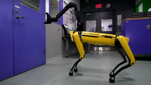 robot dog boston dynamics doors