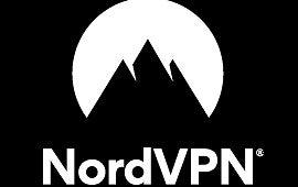 nordvpn black and white logo