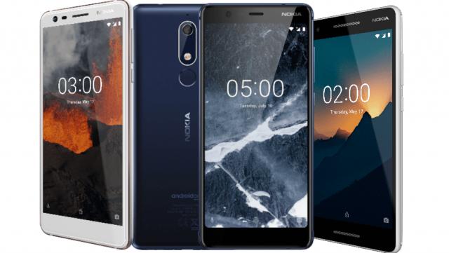 Nokia 2.1, 3.1, 5.1