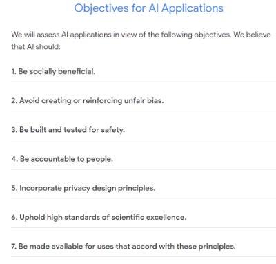 Google AI Principles