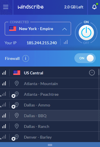 Windscribe Select VPN