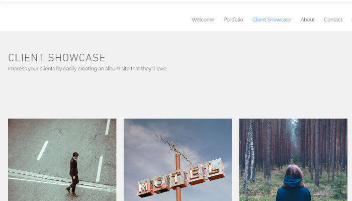 Wix client showcase example page