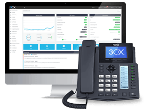 A 3cx reporting screen and phone handset